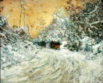 Childe Frederick Hassam - Sleigh Ride in Central Park