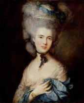 Thomas Gainsborough - A Woman in Blue , late 1770s