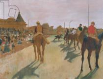 Edgar Degas - The Parade, or Race Horses in front of the Stands, c.1866-68