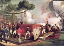 Louis-Philippe Crepin - Napoleon I (1769-1821) and Marie Louise (1791-1847) Disembarking at Antwerp, 1810