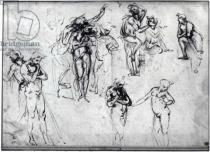 Leonardo da Vinci - Study of nude men