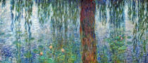 Claude Monet - Waterlilies: Morning with Weeping Willows, detail of the left section, 1915-26