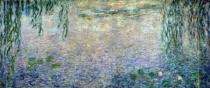 Claude Monet - Waterlilies: Morning with Weeping Willows, detail of the central section, 1915-26