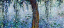 Claude Monet - Waterlilies: Morning with Weeping Willows, detail of the right section, 1915-26