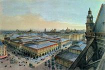 Felix Benoist - View of Les Halles in Paris taken from Saint Eustache upper gallery, c. 1870-80