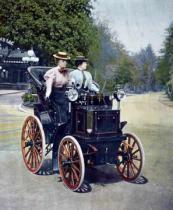 French School - A petrol-powered Panhard Levassor Phaeton with starting handle, 1896