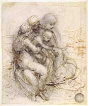 Leonardo da Vinci - Virgin and Child with St. Anne, c.1501-10