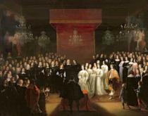 Jan Mytens or Mijtens - The Marriage of Frederick William (1620-88) Prince Elector of Brandenburg and Louise Henriette (1627-67) Princess of Nassau, 164