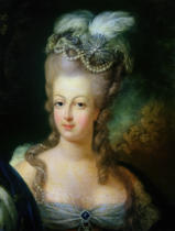 French School - Portrait of Marie-Antoinette de Habsbourg-Lorraine (1755-93)