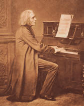 Unbekannt - Franz Liszt (1811-86) at the Piano