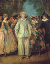 Nicolas Lancret - The Actors of the Commedia dell'Arte
