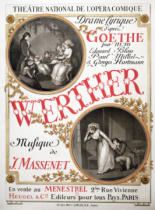 French School - Poster for 'Werther' by Jules Massenet (1842-1912) at the Theatre National de s'Opera-Comique, Paris, 1893  r8:Johann Wolfgang v