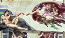 Michelangelo Buonarroti - Sistine Chapel Ceiling (1508-12): The Creation of Adam, 1511-12