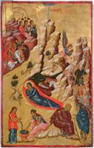 Greek School - Icon depicting the Nativity