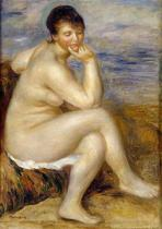 Pierre Auguste Renoir - Bather Seated on a Rock, 1882