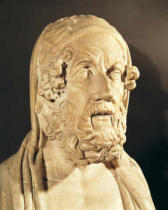 Greek School - Bust of Homer (c.850-800 BC)