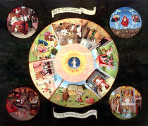 Hieronymus Bosch - Tabletop of the Seven Deadly Sins and the Four Last Things