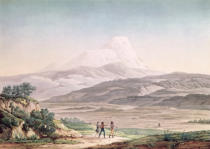 Pierre Antoine Marchais - View of Cajambe, from 'Voyages aux Regions Equinoxiales du Nouveau Continent' by Alexander de Humboldt (1769-1859) engraved by M