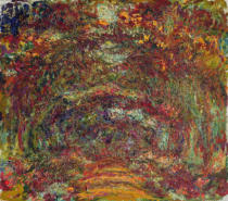 Claude Monet - The Rose Path, Giverny, 1920-22