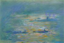 Claude Monet - Tugboats on the River Thames