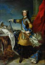 Jean-Baptiste van Loo - Portrait of Louis XV (1710-74) King of France, c.1727