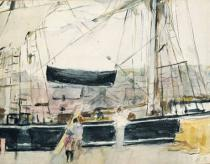 Berthe Morisot - Boat on the Quay, 1875