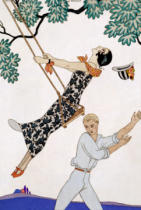 Georges Barbier - The Swing, 1920s