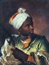 Hyacinthe Rigaud - Young Negro with a Bow, c.1697