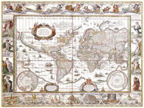 Willem Blaeu - World Map, from 'Le Theatre du Monde' or 'Nouvel Atlas', 1645