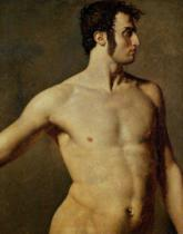 Jean-Auguste-Dominique Ingres - Male Torso, c.1800