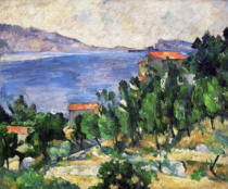 Paul Cézanne - View of Mount Mareseilleveyre and the Isle of Maire, c.1882-85