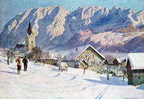 Gustave nach Jahn - Mittendorf in Austria, after an original watercolour