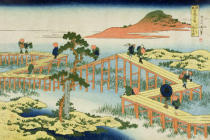Katsushika Hokusai - Eight part bridge, province of Mucawa, Japan, c.1830