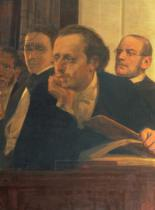 Ilya Efimovich Repin - Michal Kleopas Oginski (1765-1833), Frederic Chopin (1810-49) and Stanislaw Moniuszko (1819-72), from Slavonic Composers, 1890s