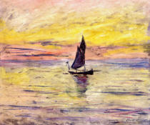 Claude Monet - The Sailing Boat, Evening Effect, 1885