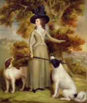 George Haugh - The Countess of Effingham with Gun and Shooting Dogs, 1787