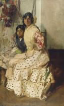 Joaquin Sorolla y Bastida - Pepilla the Gypsy and Her Daughter, 1910