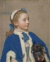 Jean-Etienne Liotard - Portrait of Maria Frederike van Reede-Athlone at Seven Years of Age, 1755