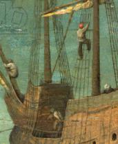 Pieter Brueghel der Ältere - Ship rigging detail from Tower of Babel, 1563