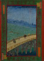 Vincent van Gogh - Japonaiserie: The Bridge in the Rain , Paris, 1887