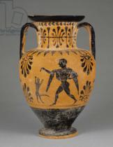 Greek School - Etruscan black-figure neck amphora, c.490 BC