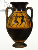 Greek School - Athenian Attic black-figure amphora with dancers, c.540-30 BC