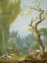 Jean-Honore Fragonard - A Game of Horse and Rider, c.1775-80