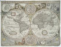 John Speed - A new and accurate map of the world, 1676