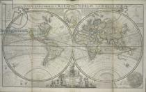 Hermann Moll - A new and correct map of the world laid down according to the newest discoveries and from the most exact observations, 1736