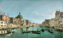 Giovanni Antonio Canaletto - The Grand Canal in Venice with San Simeone Piccolo and the Scalzi church, c. 1738