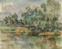 Paul Cézanne - Riverbank, c.1895