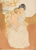 Mary Stevenson Cassatt - Maternal Caress, 1890-1