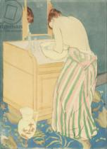 Mary Stevenson Cassatt - Woman bathing, 1890-1