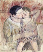Mary Stevenson Cassatt - Woman and Child , c.1900